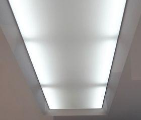 Cielorraso tensado Cielofacil TENSO blanco translucido fijacion a techo