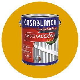 Esmalte sintetico multiaccion 3 en 1 antioxido convertidor y esmalte amarillo brillante lata x 1l