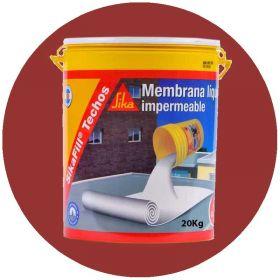 Membrana liquida impermeabilizante techos acrilica Sikafill rojo ceramico balde x 20kg