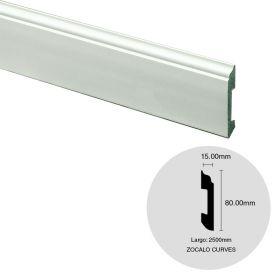Zocalo EPS Curves blanco simil madera 15mm x 80mm x 2500m