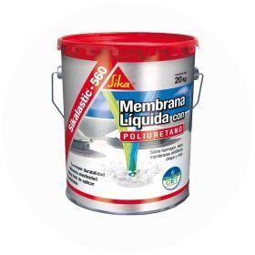 Membrana liquida impermeabilizante techos acrilica Sikalastic-560 con poliuretano blanco lata x 20kg