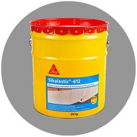 Membrana liquida impermeabilizante techos y muros 100% poliuretano Sikalstic-612 altas prestaciones gris lata x 25kg