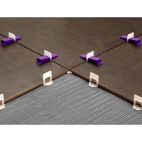 Clip separador autonivelante juntas piso y revestimiento polietileno 1.5mm bolsa x 150u