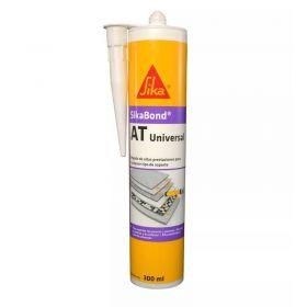 Adhesivo elastico multiuso Sikabond AT universal interior/exterior blanco cartucho x 300ml