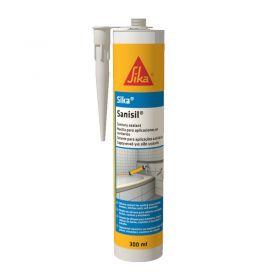 Sellador aplicaciones sanitarias Sika Sanisil silicona acetica blanco cartucho x 280ml