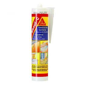 Sellador aplicaciones sanitarias y construccion silicona Sikasil c curado neutro blanco cartucho x 280ml