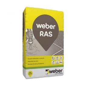 Mortero carpeta niveladora bajo solado Weber Ras gris bolsa x 30kg