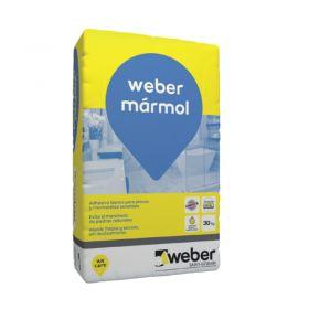 Pegamento pisos y revestimientos piedras naturales Weber Marmol secado rapido bolsa x 30kg