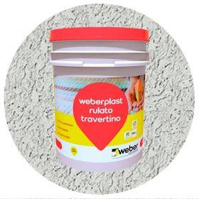 Revestimiento plastico texturado Weberplast RTF fino gris perla balde x 30kg