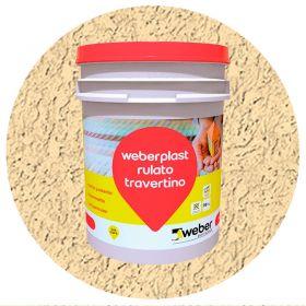 Revestimiento plastico texturado Weberplast RTF fino roma balde x 30kg