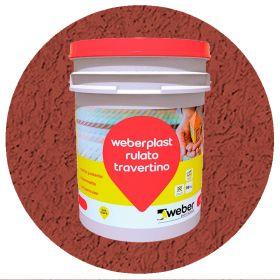 Revestimiento plastico texturado Weberplast RTF fino terracota balde x 30kg