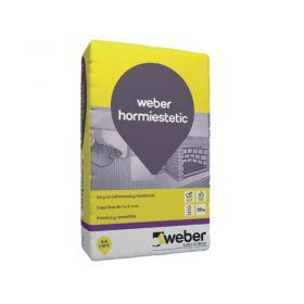 Mortero reparacion estetica hormigon capa fina Weber Hormiestetic gris bolsa x 25kg