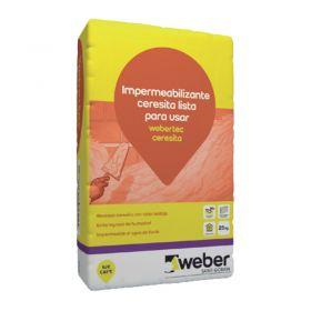 Mortero impermeabilizante listo par usar Webertec Ceresita rojo bolsa x 30kg