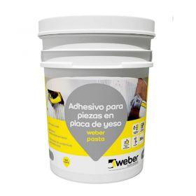 Pegamento revestimientos listo para usar Weber Pasta piezas en placa de yeso interior balde x 35kg