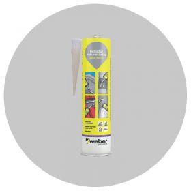 Sellador adhesivo juntas poliuretano Weber Flex PU interior/exterior gris cartucho x 600ml