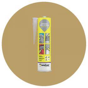 Sellador adhesivo juntas poliuretano Weber Flex PU interior/exterior medano cartucho x 300ml
