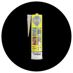 Sellador adhesivo juntas poliuretano Weber Flex PU interior/exterior negro cartucho x 300ml