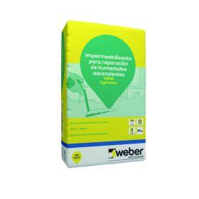 Mortero impermeabilizante reparacion humedades ascendentes Weber Hydromur blanco bolsa x 25kg
