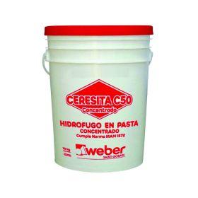 Aditivo hidrofugo Ceresita C50 concentrado en pasta balde x 10kg