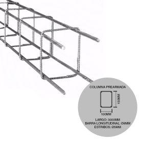 Estructura columna prearmada hierro construccion 100mm x 150mm x 3000mm