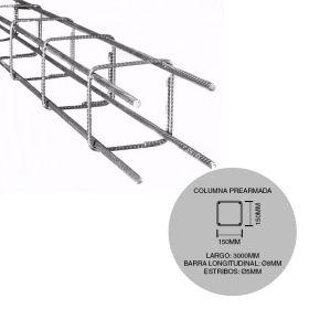 Estructura columna prearmada hierro construccion 150mm x 150mm x 3000mm