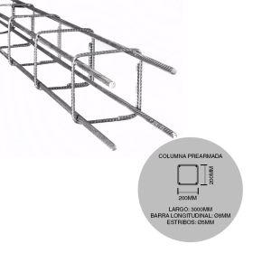 Estructura columna prearmada hierro construccion 200mm x 200mm x 3000mm