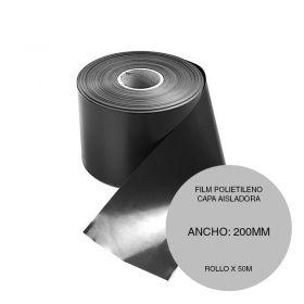 Film polietileno capa aisladora negro rollo 200mm x 50m