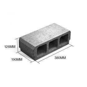 Bloque L12 hormigon losa viguetas 126mm x 190mm x 380mm