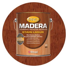 PRO MADERA STAIN LASUR CAOBA SAT 4L