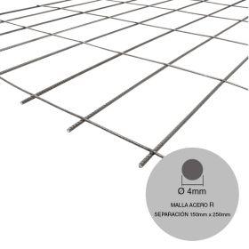 Malla acero R84-RL84 mini ø4mm separacion 150mm x 250mm medidas 2000mm x 3000mm x 6m²