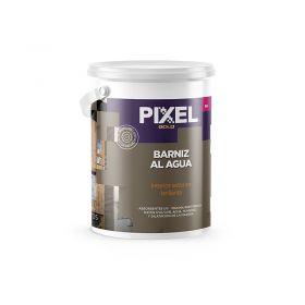 Barniz acrilico al agua BA absorvente UV alta resistencia interior/exterior transparente brillante balde x 4l