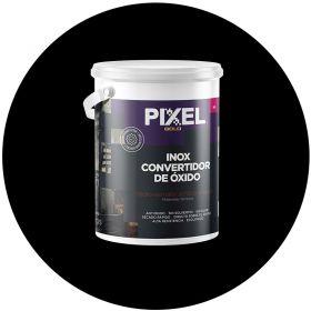 Hidroesmalte acrilico al agua HI Inox convertidor de oxido 3 en 1 negro balde x 4l