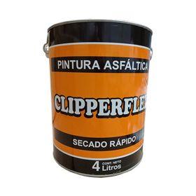 Pintura asfaltica Clipperflex impermeable base solvente secado rapido lata x 4l