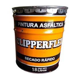 Pintura asfaltica Clipperflex impermeable base solvente secado rapido balde x 18l