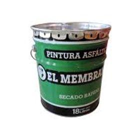 Pintura asfaltica El Membranero impermeable base solvente secado rapido lata x 1l